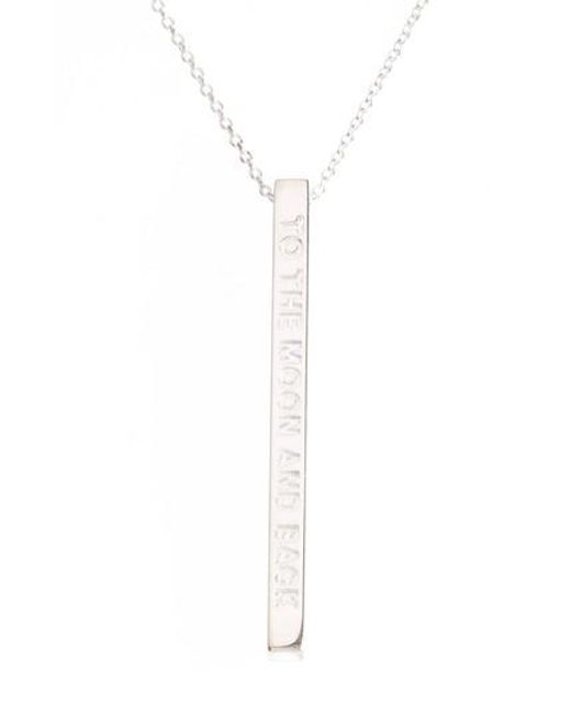 Mantraband | Metallic To The Moon & Back Pendant Necklace | Lyst