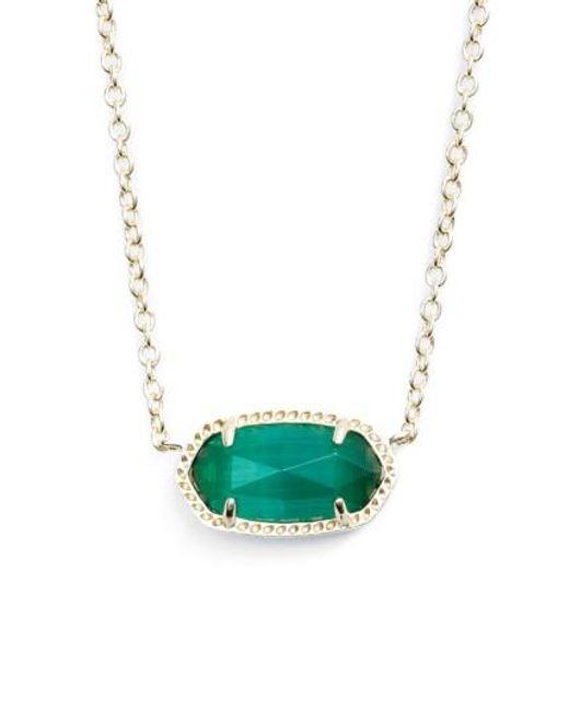 Kendra Scott   Pink Elisa Birthstone Pendant Necklace   Lyst