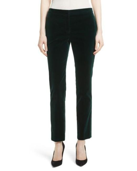 Theory | Black Stretch Velvet Tux Pants | Lyst