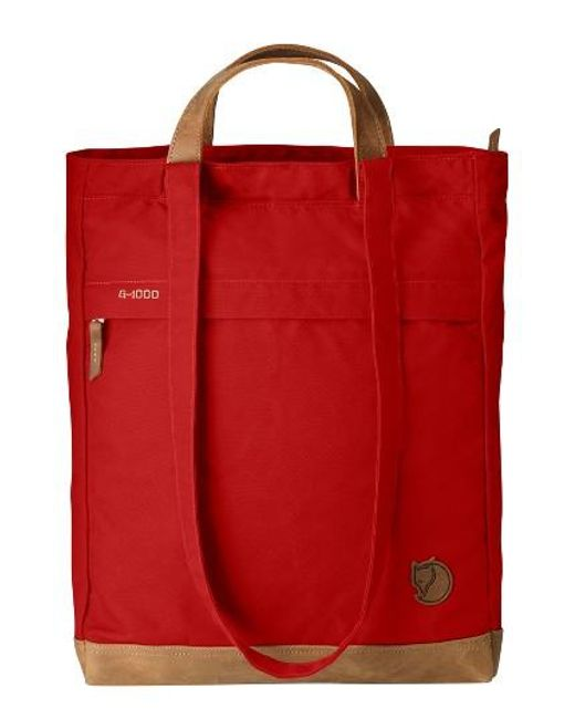Fjallraven | Red Totepack No.2 Water Resistant Tote - Burgundy | Lyst