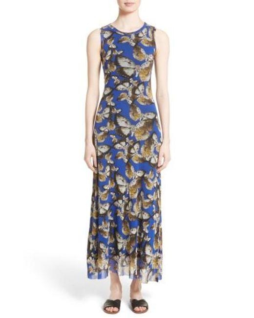 Fuzzi | Blue Tulle Maxi Dress | Lyst