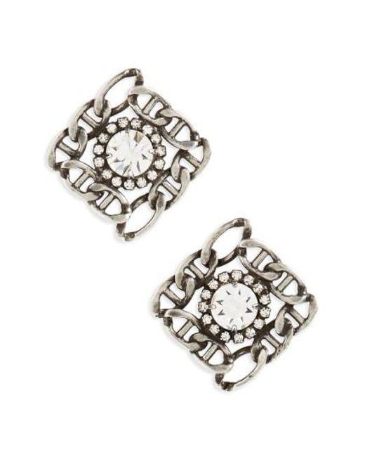 DANNIJO   Metallic Kassia Stud Earrings   Lyst