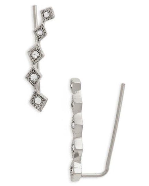 Luv Aj | Metallic Crystal Ear Crawlers | Lyst