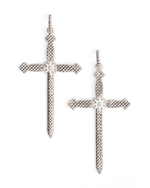 Luv Aj | Metallic Serpent Cross Earrings | Lyst