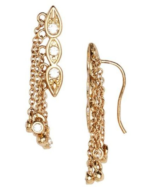 Luv Aj | Metallic Poise Dangle Crawler Earrings | Lyst