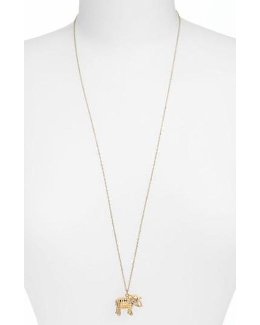 Anna Beck | Metallic Jewelry That Makes A Difference Elephant Pendant Necklace | Lyst