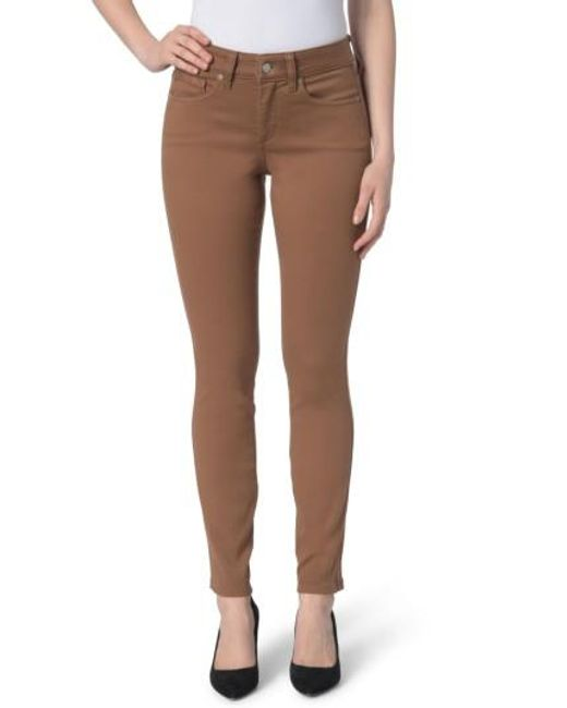 NYDJ | Brown Ami Colored Stretch Skinny Jeans | Lyst