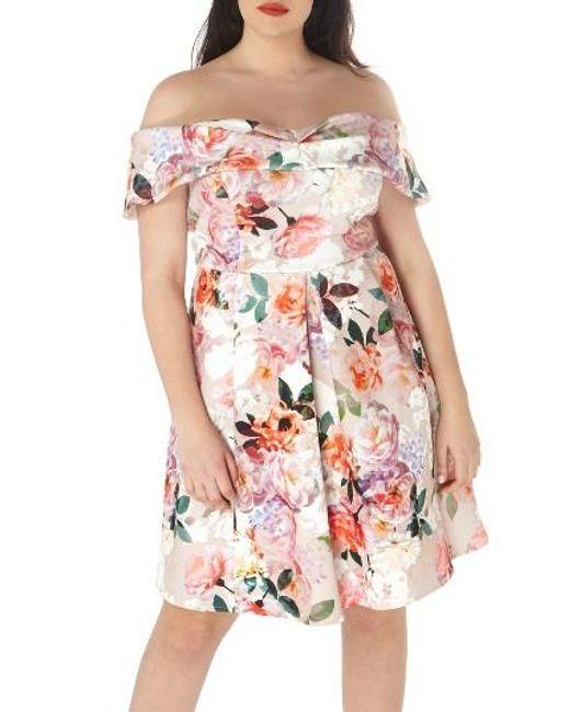 Dorothy Perkins | Pink Off The Shoulder Dress | Lyst