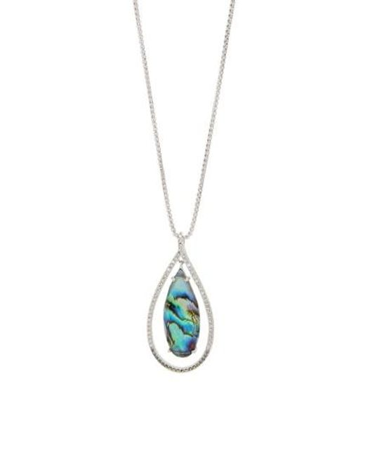 Judith Jack | Metallic Tropical Touches Doublet Pendant Necklace | Lyst