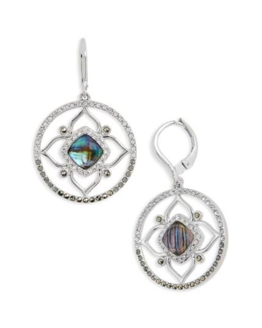 Judith Jack | Metallic Tropical Touches Flower Drop Earrings | Lyst