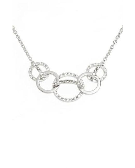Judith Jack | Metallic Silver Sparkle Crystal Collar Necklace | Lyst