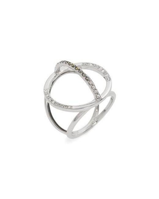 Judith Jack   Metallic Silver Sparkle Circle Ring   Lyst