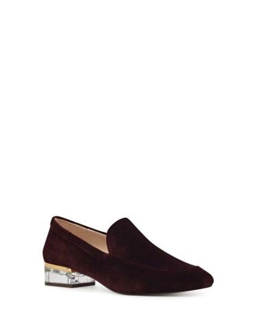Nine West | Black Umissit Clear Heel Loafer | Lyst