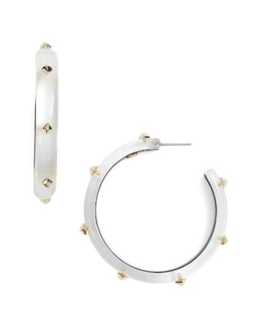 Alexis Bittar | Metallic Studded Lucite Hoop Earrings | Lyst