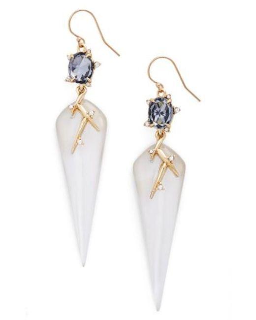 Alexis Bittar | Metallic Lucite Crystal Drop Earrings | Lyst
