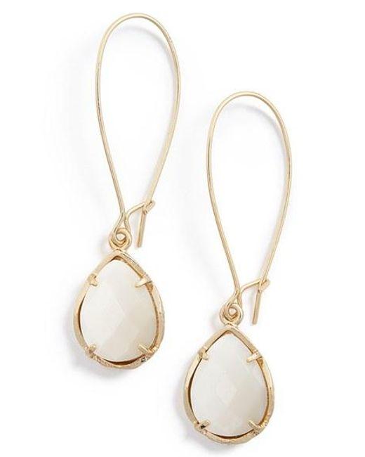 Kendra Scott | White 'dee' Teardrop Earrings | Lyst