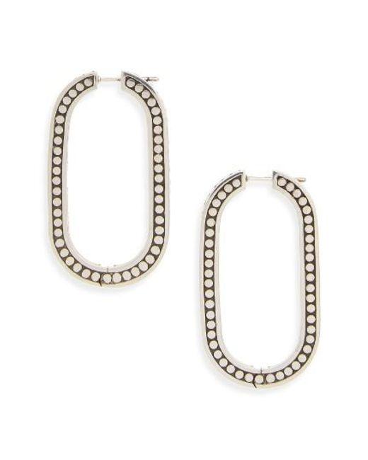 John Hardy | Metallic Dot Large Link Earrings | Lyst