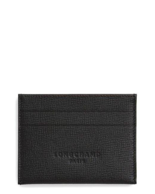Longchamp | Black Racing Plus Card Case | Lyst
