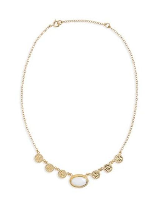 Anna Beck   Metallic White Opal Frontal Necklace   Lyst