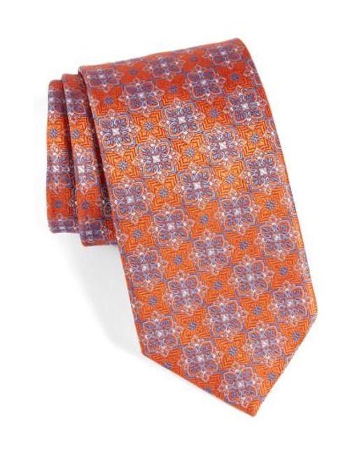 David Donahue | Multicolor Medallion Silk Tie for Men | Lyst