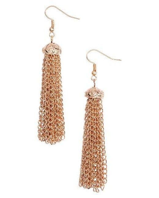 Elise M | Metallic Fortuna Chain Tassel Earrings | Lyst