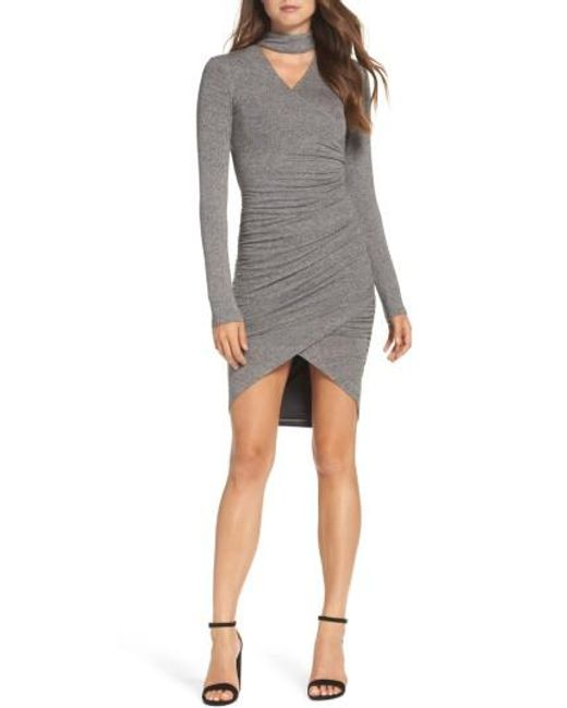 Bardot | Gray Alex Body-con Dress | Lyst