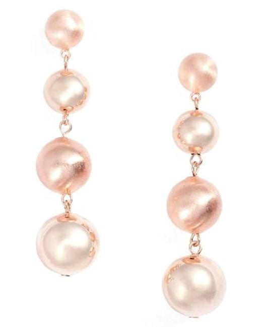 Rebecca Minkoff | Pink Statement Drop Earrings | Lyst