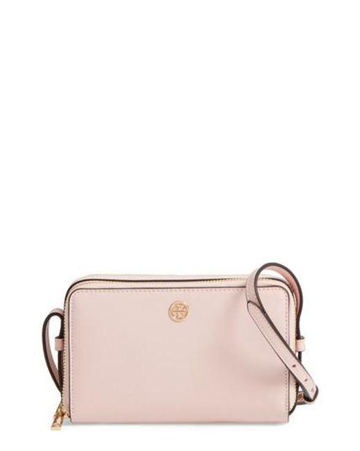 Tory Burch   Pink Mini Parker Leather Crossbody Bag   Lyst