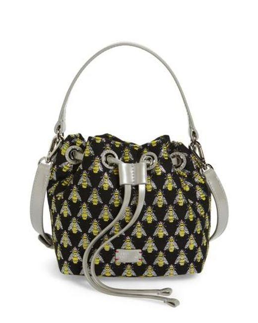 Frances Valentine   Multicolor Ann Little Bee Woven Bucket Bag   Lyst