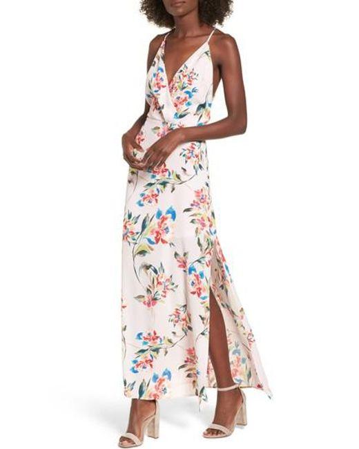Lush - Multicolor Surplice Maxi Dress - Lyst