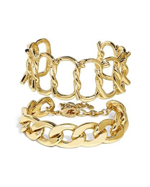 BaubleBar | Metallic Set Of 2 Chain Bracelets | Lyst