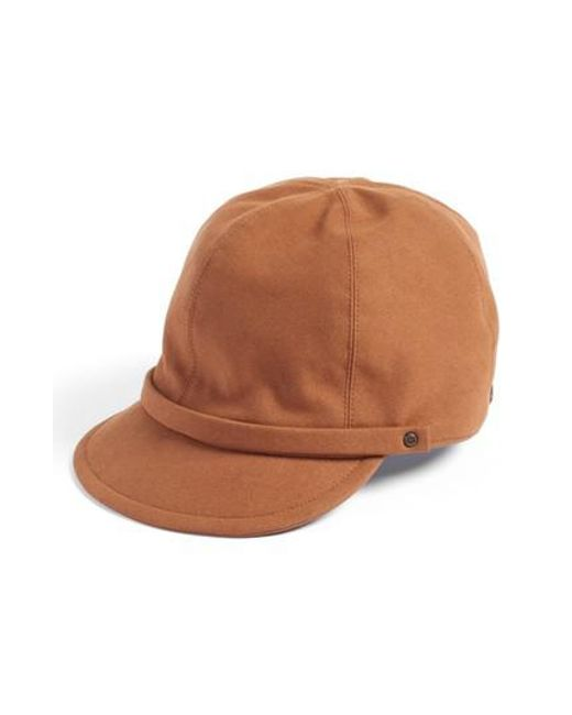 Eric Javits   Brown Mika Packable Faux Suede Cap   Lyst