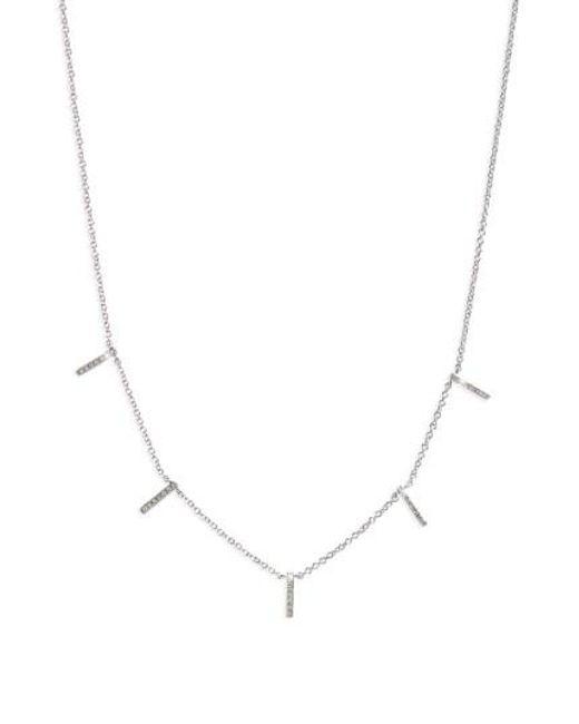 EF Collection | Metallic Diamond Collar Necklace | Lyst