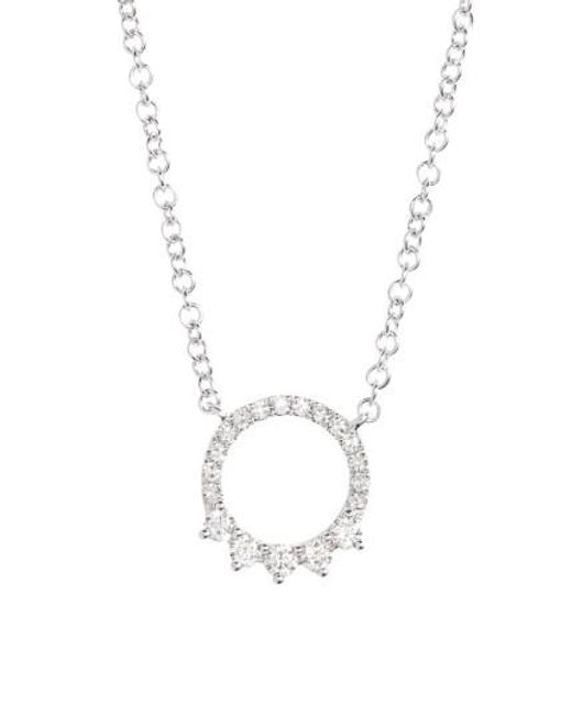 EF Collection | Metallic Circle Pendant Necklace | Lyst
