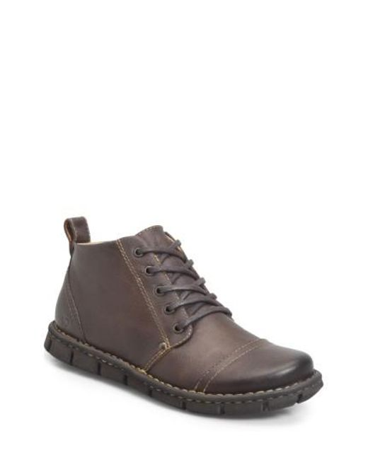 Børn | Brown B?rn Boulder Cap Toe Boot for Men | Lyst
