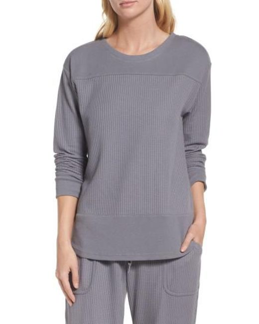 DKNY | Gray Long Sleeve Sleep Shirt | Lyst