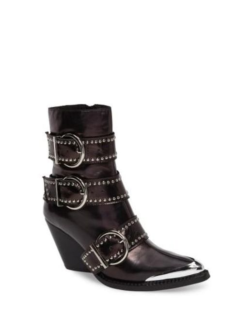 Jeffrey Campbell | Black Jeffrrey Campbell Marvolo Studded Bootie | Lyst