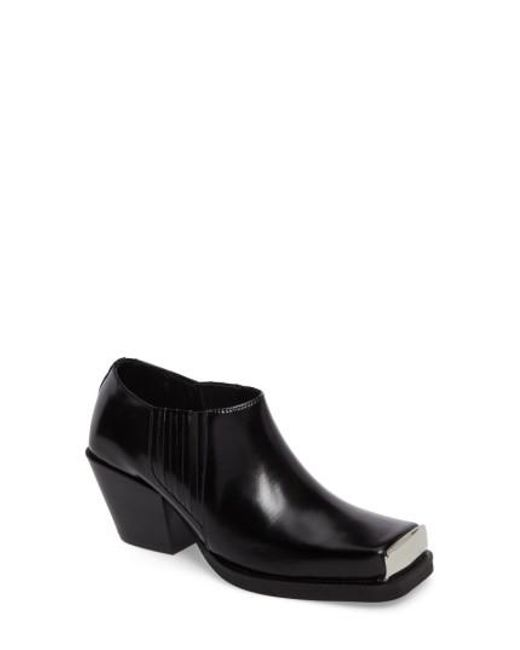 Jeffrey Campbell | Black Reynoso Square Toe Bootie | Lyst