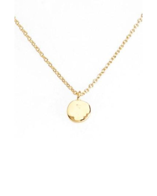 Gorjana   Metallic Chloe Small Pendant Necklace   Lyst