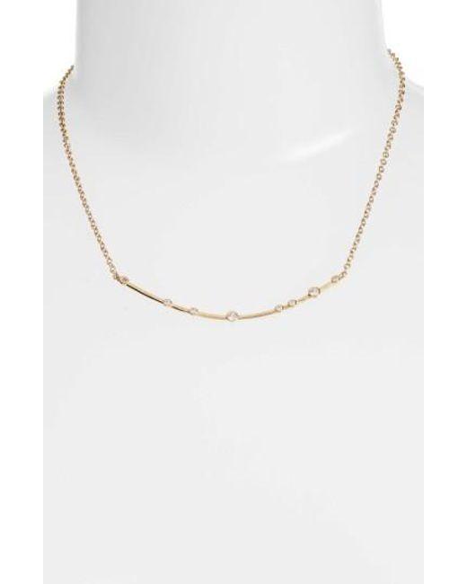 Melinda Maria   Metallic Crescent Necklace   Lyst