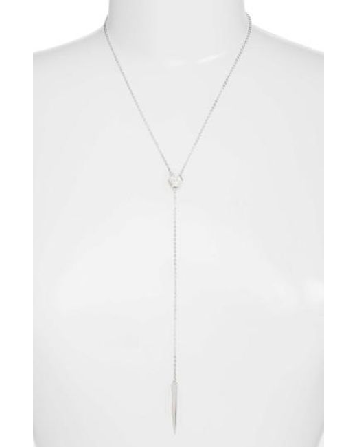 Melinda Maria | Metallic Emma Y-necklace | Lyst