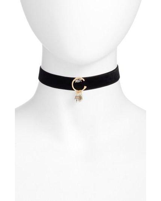Rebecca Minkoff | Black Velvet Choker Necklace | Lyst