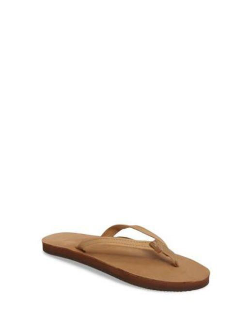 Rainbow Sandals - Brown Narrow Strap Sandal - Lyst