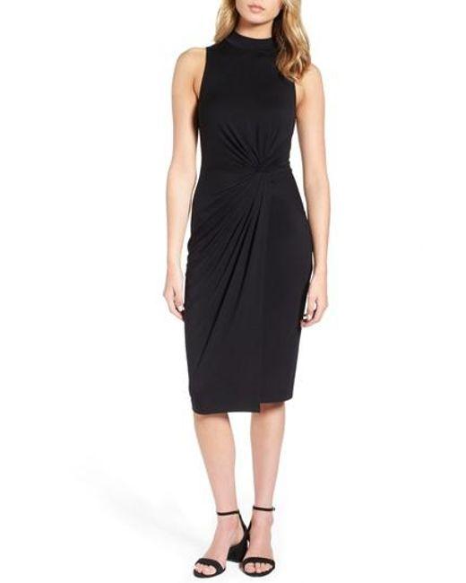 Soprano | Black Twist Front Body-con Dress | Lyst