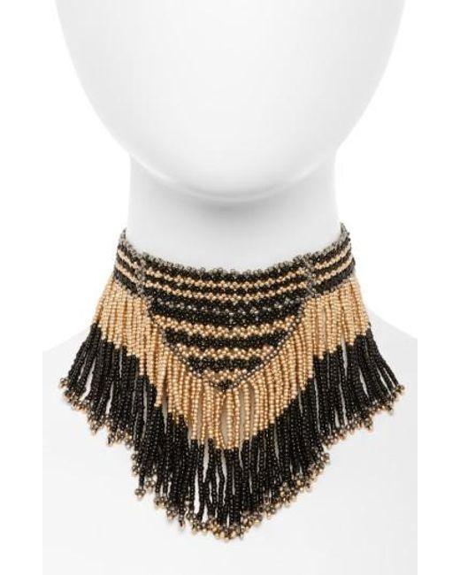Panacea | Multicolor Fringe Necklace | Lyst