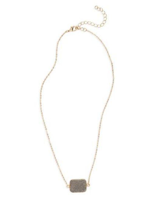 Panacea | Metallic Drusy Pendant Necklace | Lyst