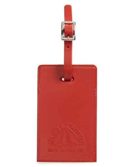 Globe-Trotter | Red Centenary Luggage Tag | Lyst