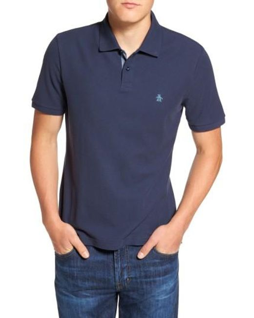 Original Penguin | Blue Daddy Pique Polo for Men | Lyst