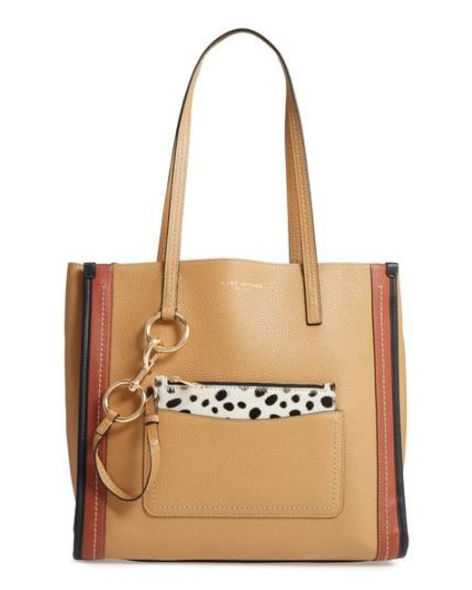 Marc Jacobs | Natural The Dalmatian Grind East/west Leather Shopper & Genuine Calf Hair Pouch | Lyst