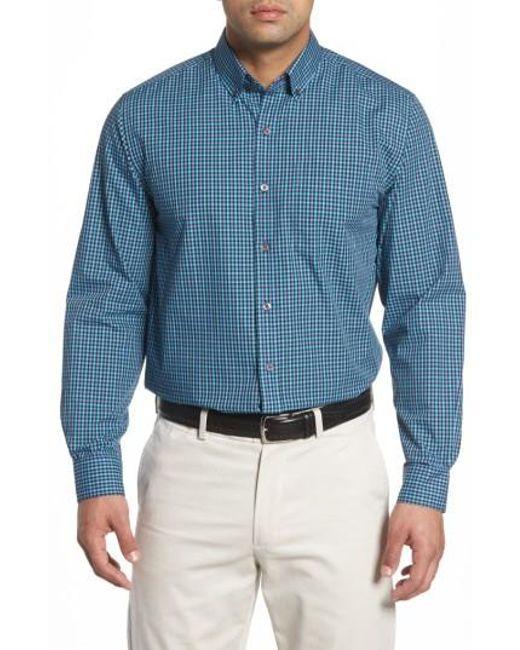 Cutter & Buck | Blue Barrett Easy Care Check Sport Shirt for Men | Lyst